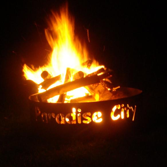 Paradise City Fire Ring in the Dark